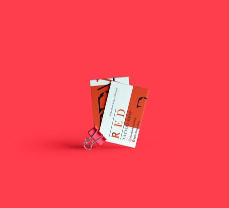 Cartes RED Tattoo Shop - recto