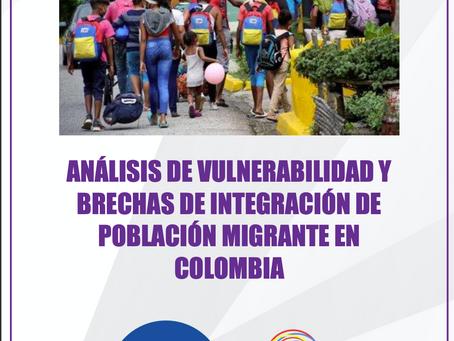 Análisis de vulnerabilidad y fechas de integración de población migrante en Colombia