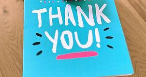 Thank you card, nonprofit volunteers, appreciation