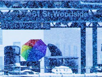 Snow and Rainbow Umbrella