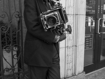 Photographer with Vintage Camera @Midtown