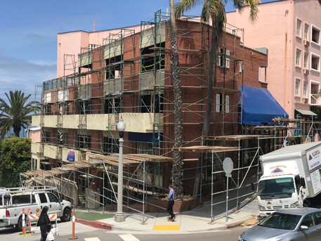 La Jolla Inn Under Construction