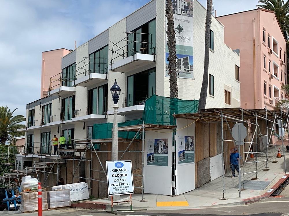 La Jolla Inn under construction