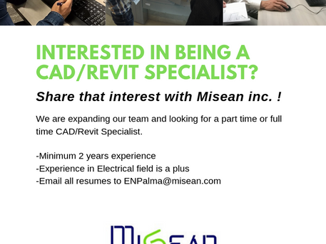 Now Hiring! Interested in being a CAD/Revit Specialist?