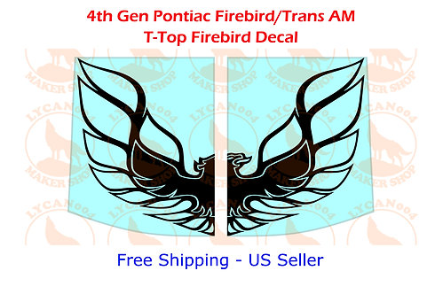 Firebird Logo T-Tops Decal - 4th Gen