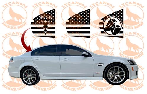 Pontiac G8/Chevy SS - Quarter Window Flag Decals