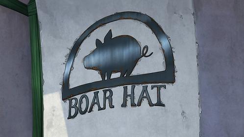 Boar Hat Tavern Sign - Seven Deadly Sins