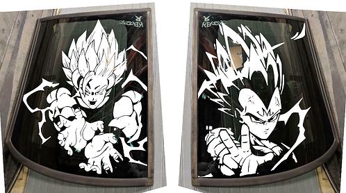 DBZ Goku & Vegeta - 4th Gen T-Tops Decal