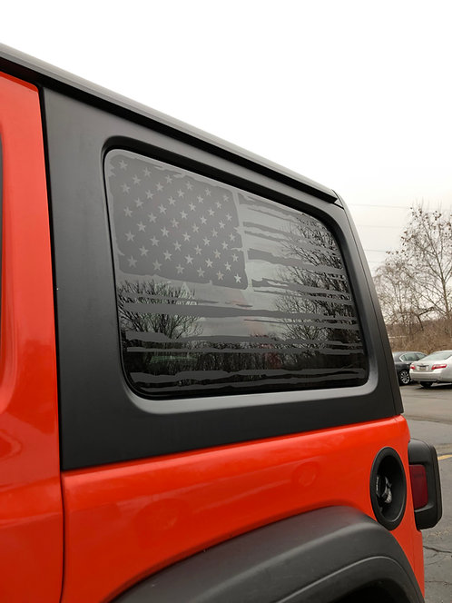 JeepWrangler Flag Decal