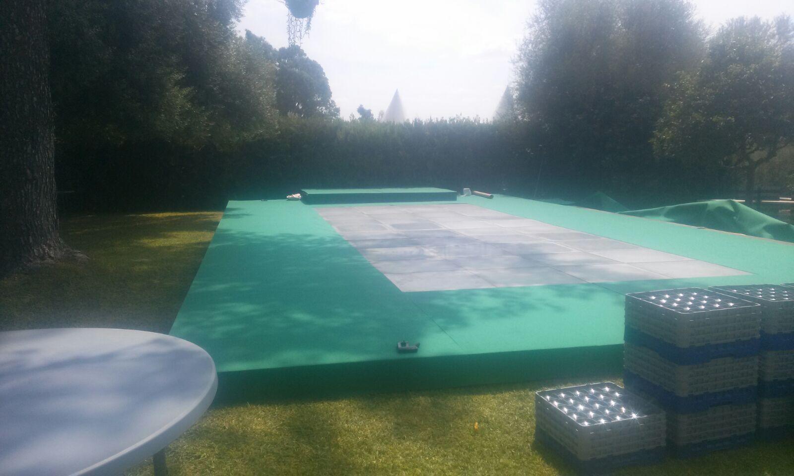 Cubierta de piscina en Carmona