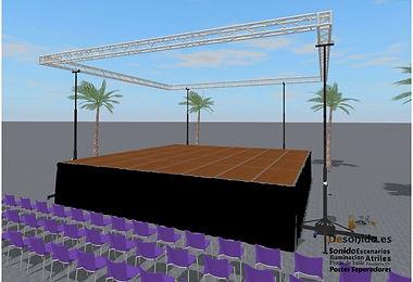 Diseño de escenario. Desonido.es