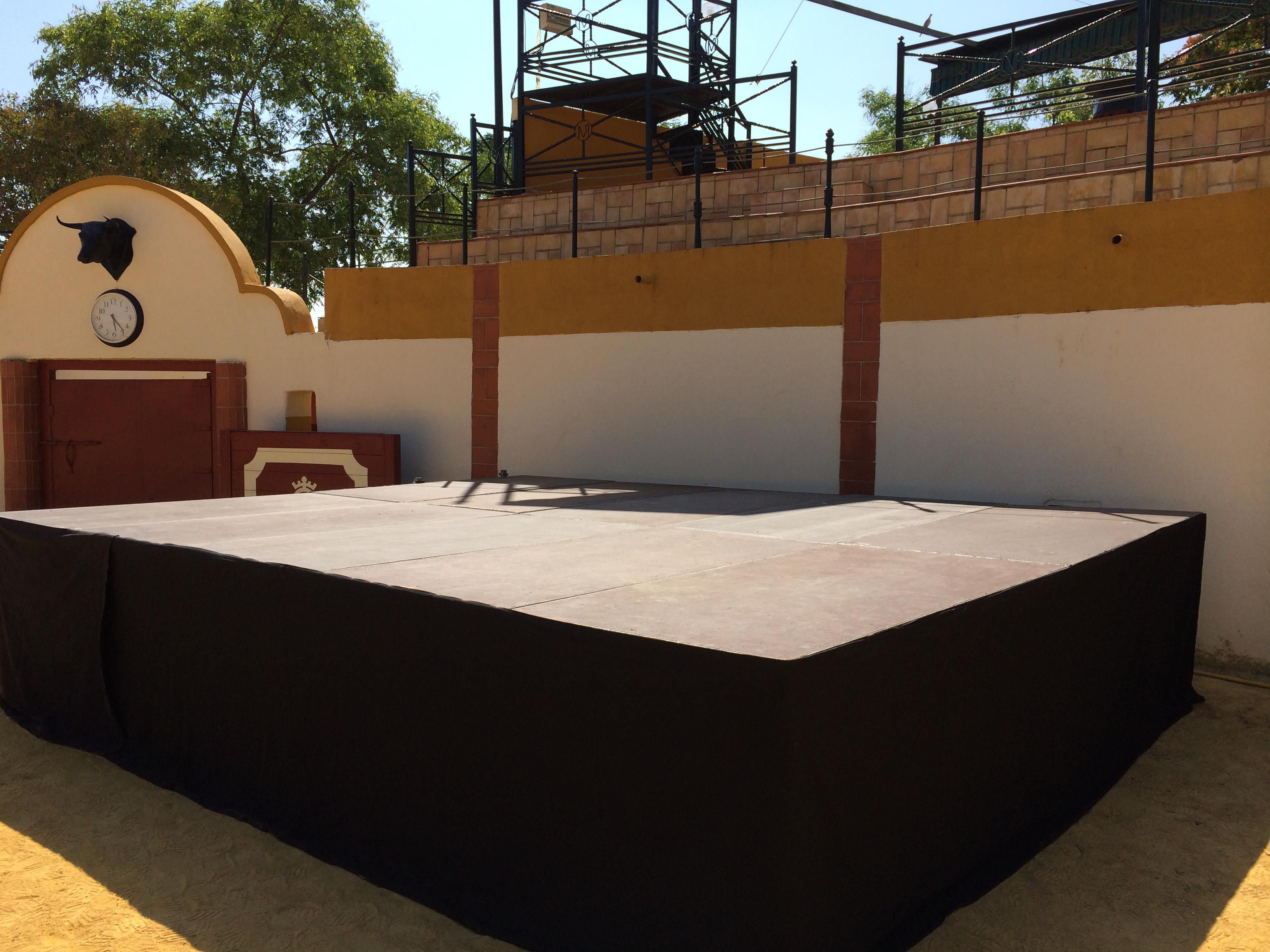 Escenario de 20m Plaza de toros