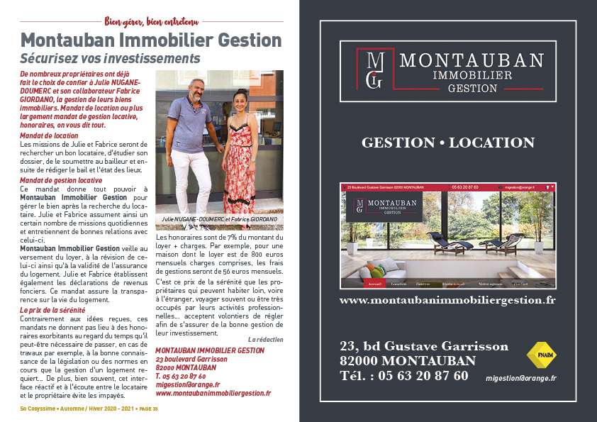MONTAUBAN IMMOBILIER GESTION