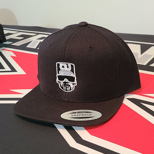TX Classic Snap Back Hat Black (flat bill)