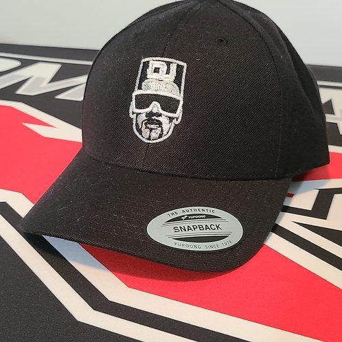 TX Classic Snap Back Hat Black (round bill)
