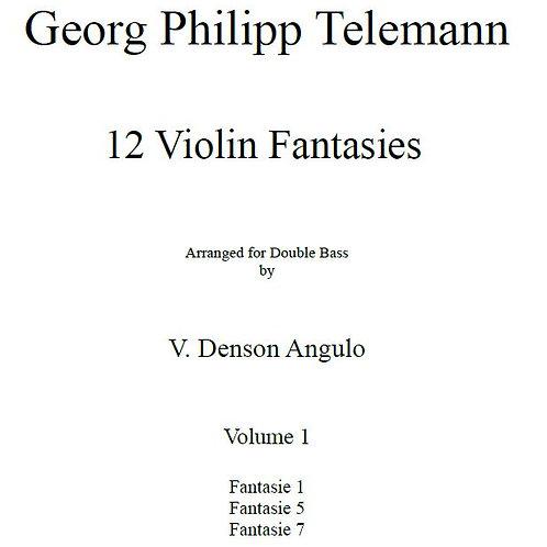 Georg Philipp Telemann 12 Fantasies for Double Bass Vol. 1