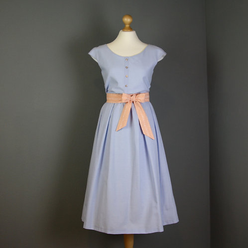 Kleid LUISE mit Schleife, hellblau