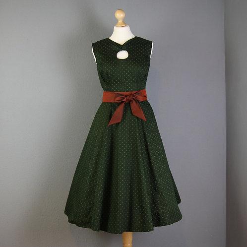 Kleid KATL mit Knoten, jägergrün 36