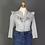 Thumbnail: Bluse EVI mit 3/4-Arm, blau-grau meliert