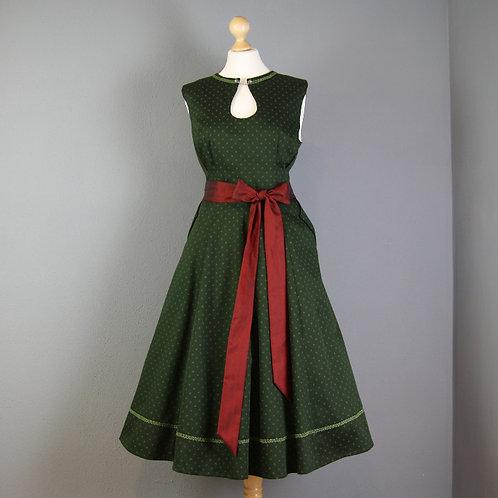 Kleid KATL mit Tropfenausschnitt, jägergrün 42