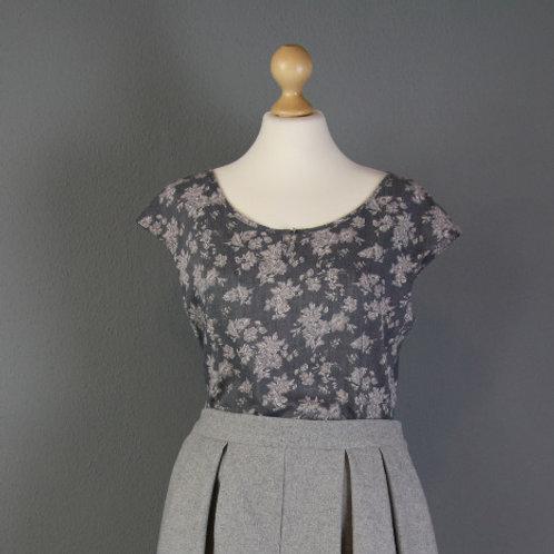 Top ANNA floral jeansblau 38 & 42