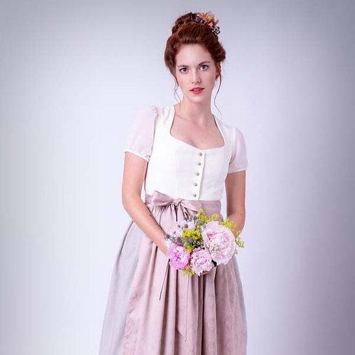 Hochzeitsdirndl LINA creme/rosé