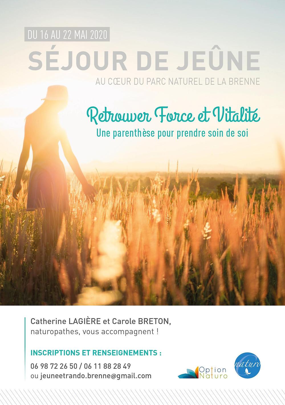 Séjour de jeûne avec Carole Breton