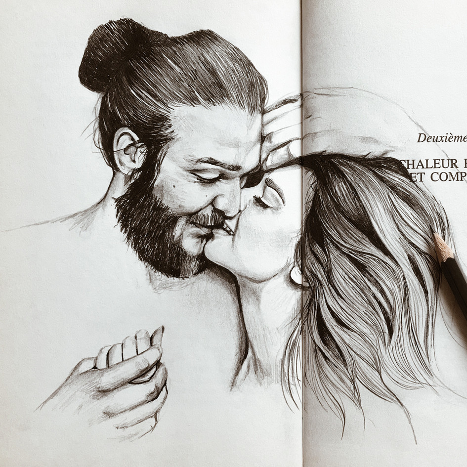 Couple on a book