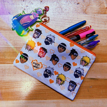 My Ninja Dad pencil pouches will be avai