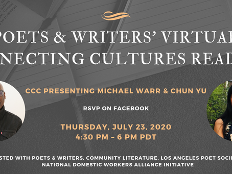 Poets and Writers' Virtual Connecting Cultures Reading