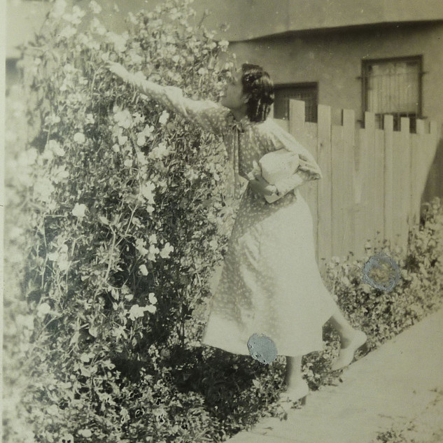 Shirley picking flowers.JPG