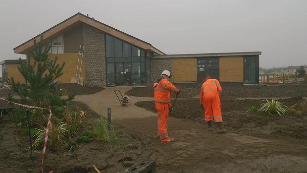 JB Tiling Services Ltd team completing outside work