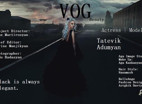 Exclusive: Black is always elegant. | VOG Magazine | Tatevik Adumyan |