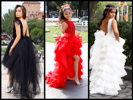Kids Fashion: Black, Red & White