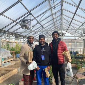 Greenhouse volunteers
