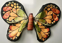 Monarch Butterfly paper mache sculpture.
