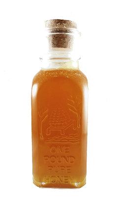 Pure & Raw Honey in Glass Muth Jar - 1 lb (Light/Medium Color)