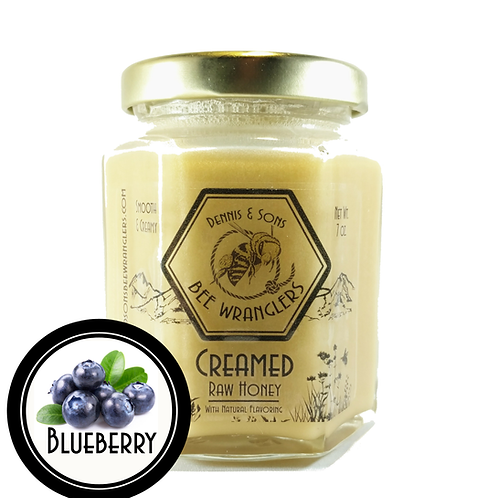 Raw Creamed Honey - Blueberry Infused - 8 oz.