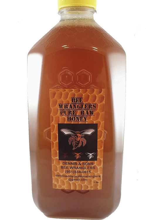 Pure & Natural Raw Honey - 5 lb. (Light/Medium Color)