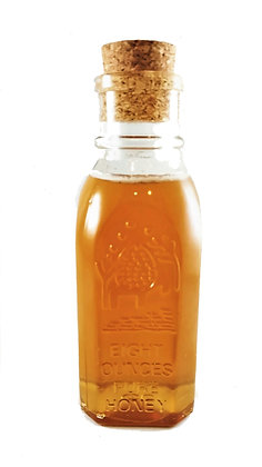 Pure & Raw Honey in a Glass Muth Jar - 8oz (Light/Medium Color)