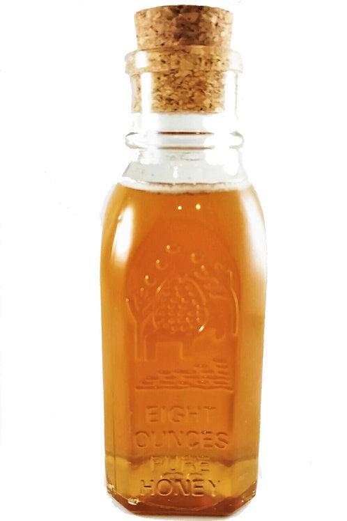 Pure & Raw Honey in a Glass Muth Jar - 8oz (Light/Medium Color)