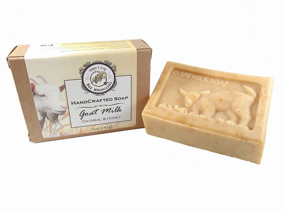 Unscented (Goats Milk) - Handcrafted Cold Process Soap