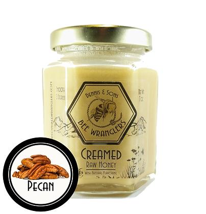 Raw Creamed Honey - Pecan Infused - 8 oz.