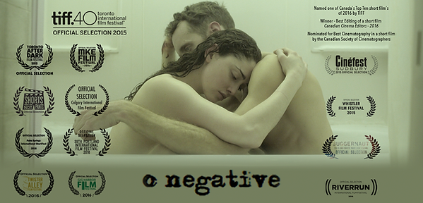 o negative. short film. TIFF 15. Toronto International Film Festival. Steven McCarthy. Alyx Melone. Shortfest. Riverrun. TIFF top ten 2015. Cinéfest. WIFF. CIFF. Gig Harbour Film Fest. Jeff Mann. Cabot McNenly.