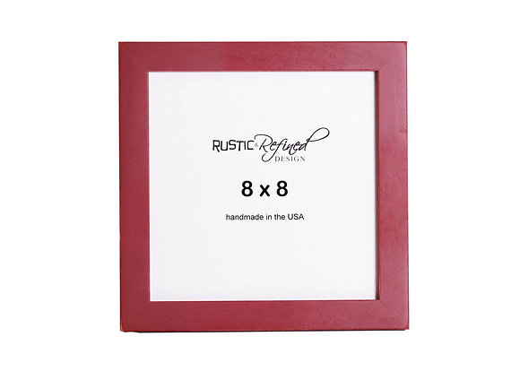 "8x8 1"" Gallery Picture Frame - Barn Red"