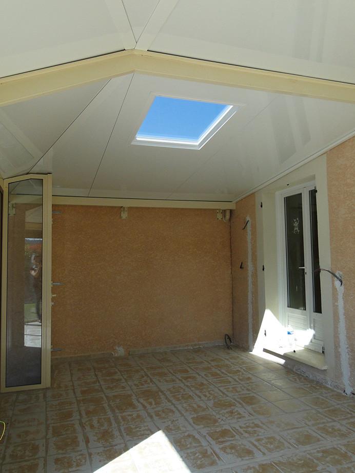 Nouvelle toiture en panneaux isolants