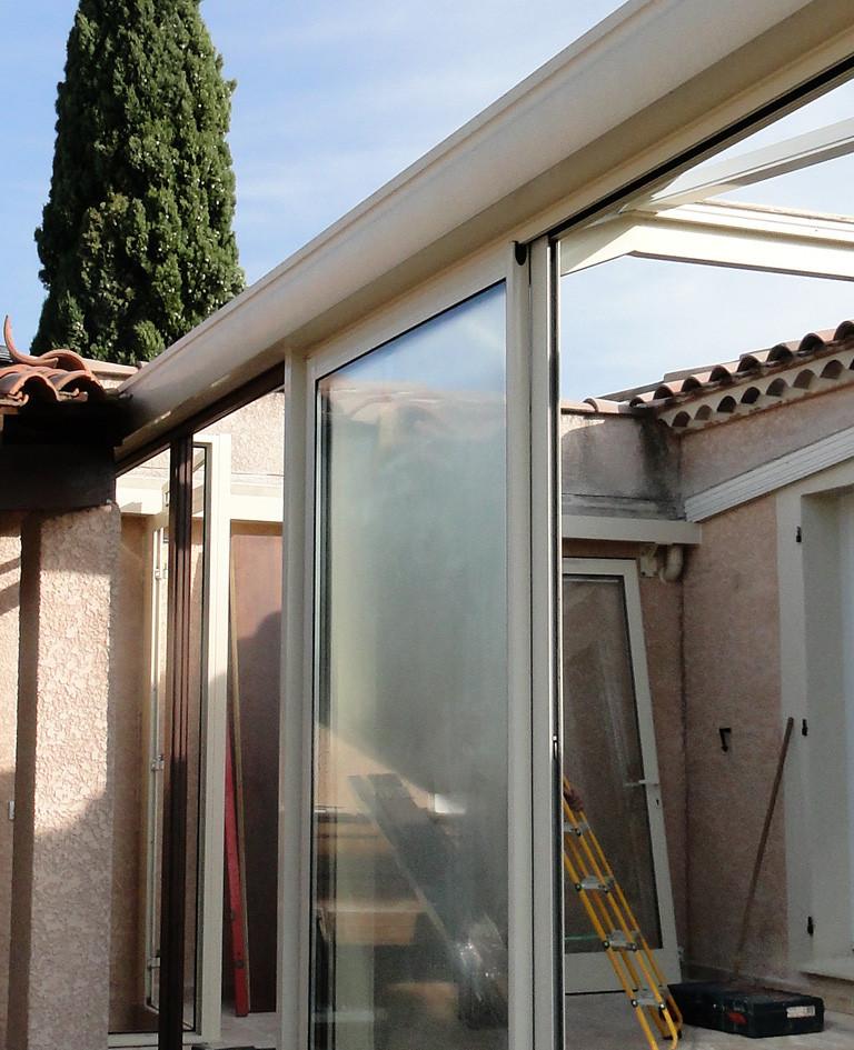 Dépose de la toiture et menuiserie