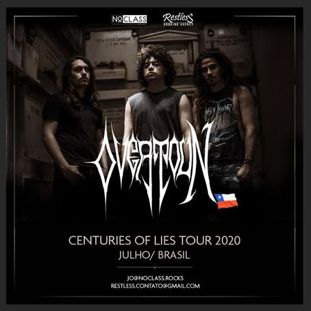 OVERTOUN ANNOUNCES BRAZILIAN TOUR 2020