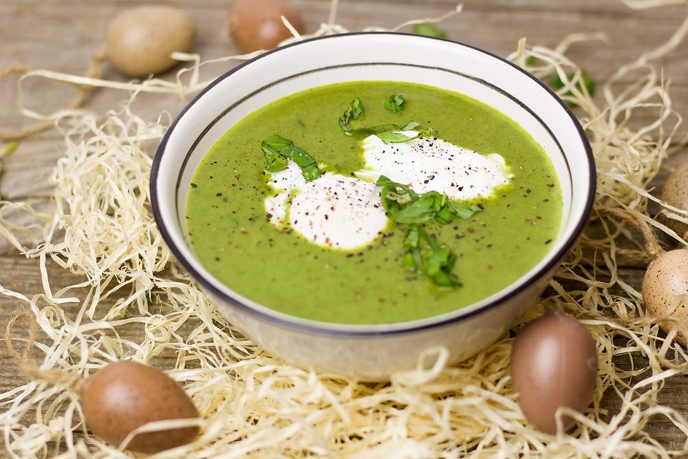 sprout, chorizo, potato, soup, egg, winter, recipe