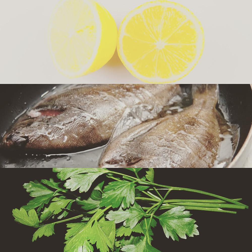 Dab, lemon, parsley